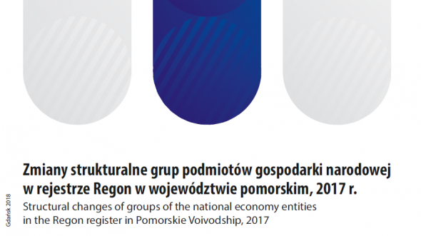 Structural changes of groups of the national economy entities in the Regon register in Pomorskie Voivodship, 2017