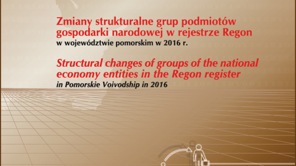 Structural changes of groups of the national economy entities in REGON register in Pomorskie Voivodship in 2016