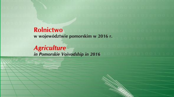 Agriculture in Pomorskie Voivodship in 2016